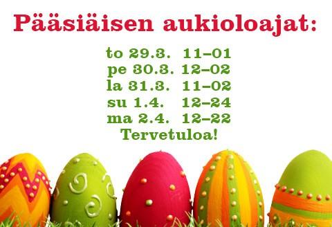 Plevna palvelee Pääsiäisenä
